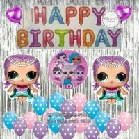 - Paket Dekorasi Balon Ulang Tahun / Happy Birthday Tema LOL Surprise