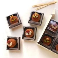 Box Mika Black 7X7 Plastik mika cookies Puding Coklat Hadiah valentine