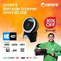 Omni Directional 2D OMINI 9 Laser Barcode Scanner Duduk USB