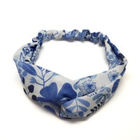 Bandana Print Flower Blue Kamalika Artprints