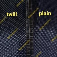 bahan kain serat carbon kevlar fiber fabric hitam 3k twill plain -