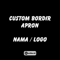 Custom Bordir Apron Nama atau Logo