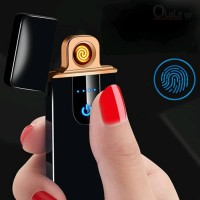 Korek Api Elektrik Lighter Fingerprint Touch Sensor Rechargeable