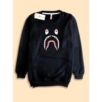 Sweater Premium desain Bape Shark Hiu