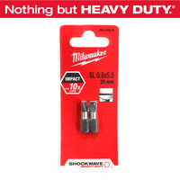 """Milwaukee Accessories - """"Slotted"""" Mata Obeng SL 0.8 X 5.5 - 25 Mm"""
