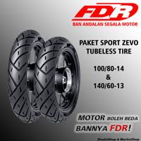 PAKET BAN TUBELESS FDR SPORT ZEVO 100/80-14 & 140/60-13 HONDA ADV 150
