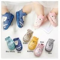 Baby prewalker sepatu bayi lucu kaos kaki booties skidders Anti slip