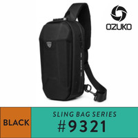 OZUKO Sling Bag #9321 - Black