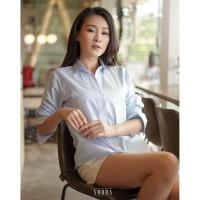 Casual Twin Stripe Shirt Kemeja Wanita BL1183