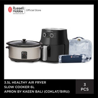 Bundling Russell Hobbs Healthy Airfryer 3.5L - Slow Cooker 6L - Apron