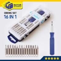 Obeng Set 16 in 1 Mini Tool Kit Toolkit Screwdriver Handphone Elektro