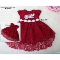 Dress Brukat Anak Perempuan Usia 1-2 Thn / Baju Brukat Anak -alice new