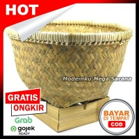 [Diameter 24cm] Ceting / Bakul / Wakul Tempat Nasi Anyaman Bambu