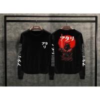 T-shirt Samurai Atari Lengan Panjang / Baju Kaos Distro Pria Wanita