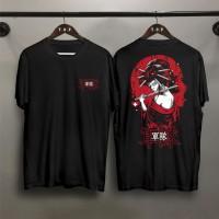 T-shirt Samurai Onna / Baju Kaos Distro Pria Wanita Cotton 30s