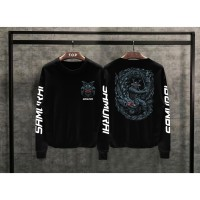 T-shirt Samurai Naga Lengan Panjang / Baju Kaos Distro Pria Wanita