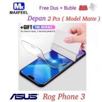 Asus Rog Phone 3 MAXFEEL Hydro Gel Matte Anti Gores Glare Antiglare - Matte