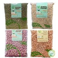 Kacang Merah / Kacang Hijau /Kedelai Organik Kacang Tanah 500gr