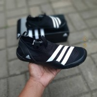 Sepatu Adidas Climacool Jawpaw Slip On Black White Premium Original
