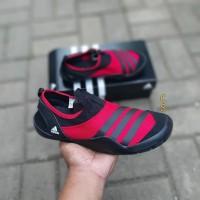 Sepatu Adidas Climacool Jawpaw Slip On Red Black Premium Original