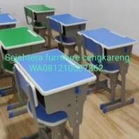 Meja sekolah meja belajar set bangku SD SMP SMA meja kursi sekolah