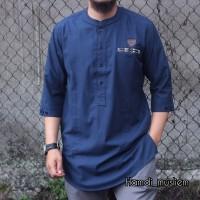 kurta pakistan / fashion muslim pria/ baju koko pria/kurta Hmd - Biru, M