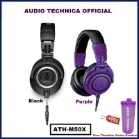 Audio-Technica ATH-M50x Professional Studio Monitor Headphone ATH M50X - Hitam