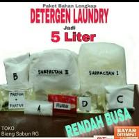 Deterjen laundry, Bahan Detergen laundry cair, Bahan Detergen jadi 5 L