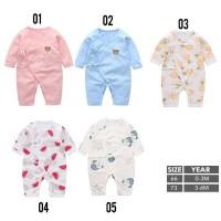 LKM180 Sleepsuit Bayi Laki-laki / Perempuan Lengan Pendek Jumper Bayi