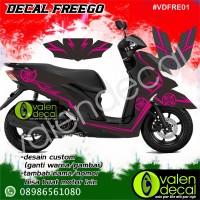 Sticker Decal Motor Freego full body Desain custom GRATIS
