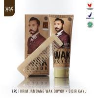 PAKET Wak Doyok Cream 75ml + Sisir - Original Hologram