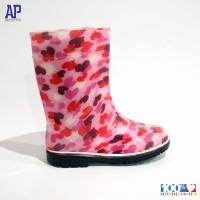 AP LOVE PINK 15.0-18.0 - SEPATU BOOTS KARET ANAK - AP BOOTS