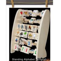 Mainan Edukasi Anak - Balok Kayu - Alphabet Berdiri Inggris - Edukatif