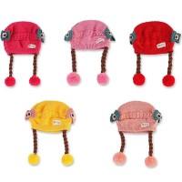 Tseloop-P19-21 Topi Anak Perempuan Rambut Kepang Topi Bayi Kupluk