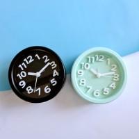Round Alarm Clock / Jam Weker Bulat 9cm 9806K