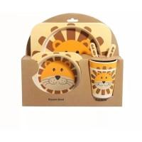 Bamboo Fiber Kids Feeding Set / Peralatan Makan Bayi-anak anak 2