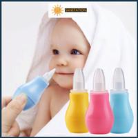 Baby Infant Nasal Vacuum Mucus Suction Aspirator Nose Clean SANSTATION - Biru Muda