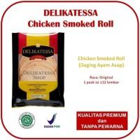 Delikatessa Chicken Smoked Roll Chicken Ham Daging Ayam Asap Halal