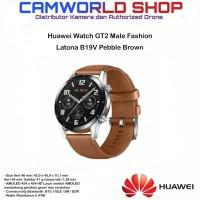 Huawei Watch GT2 Male Fashion Latona B19V Pebble Brown - Garansi RESMI