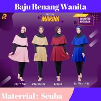 Setelan Baju Renang Wanita Muslimah, 1Set Pakaian Renang Wanita Muslim