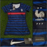 Jersey Baju Bola Ladies Cewek France Perancis Prancis Home 2020-2021