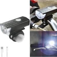 Lampu Depan Sepeda CREE LED 300LM Rechargeable Murah