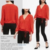 Brep 03 PuffSleeve Heart Top Baju Atasan Blouse Wanita Branded