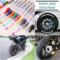 Spidol Ban Toyo ORIGINAL / Spidol Ban Mobil Motor / Paint Marker Toyo