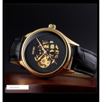 Jam Tangan Pria Analog SKMEI 9209 GOLD BLACK WaterResist 30m