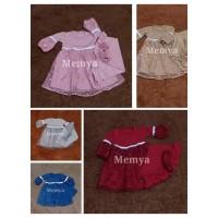 gamis aqiqah bayi perempuan baju muslim anak brukat brokat tulle tile