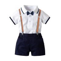 BABYPOTATO - Polo Suit Bayi warna Putih