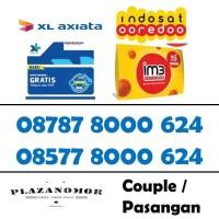 Nomor cantik Couple pasangan XL Indosat 4G kartu perdana quartet 0624