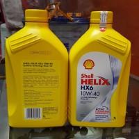 Oli Mesin Shell Helix HX6 SAE 10W/40 SN Botol 1L. for Diesel & Gasolin
