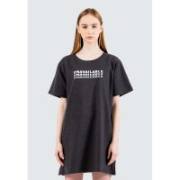 Colorbox Graphic Dress T-Shirt I-Dikkey120E016 Grey